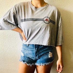 Adidas Cropped vintage T-shirt